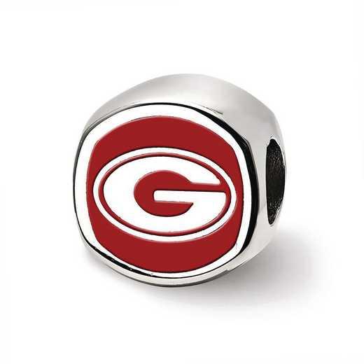 SS501UGA: SS Logoart U Of Georgia Cushion Shaped Logo Reflection Beads