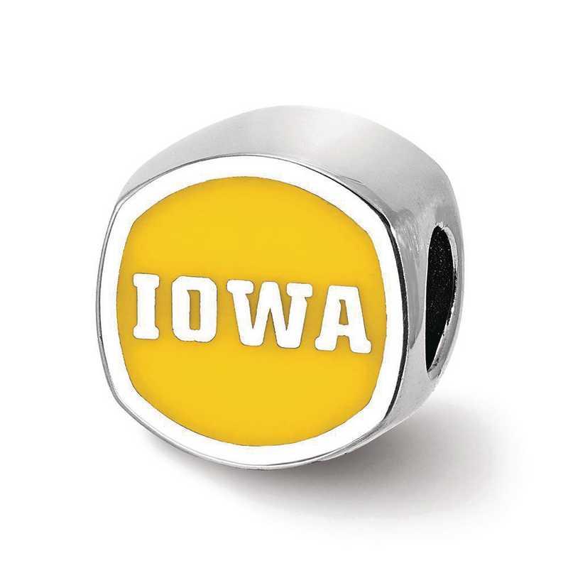 SS501UIA: SS Univ Of Iowa Cushion Shaped Enameled Reflection Beads