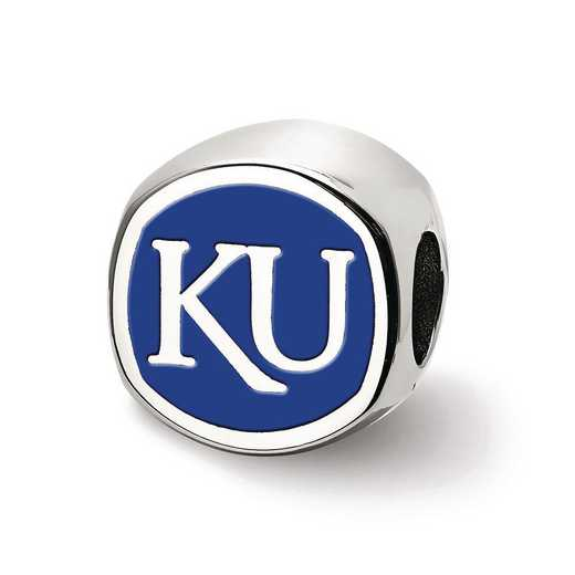 SS501UKS: SS Logoart The U Of Kansas Cushion Logo Reflection Beads