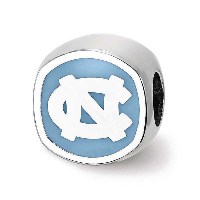 SS501UNC: SS The Univ Of North Carolina Enameled Reflection Beads