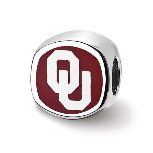 SS501UOK: SS University Of Oklahoma Ou Enameled Reflection Beads