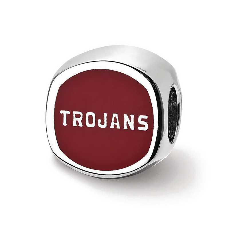 SS501USC: SS U. Of Southern California Trojan Head Reflection Beads
