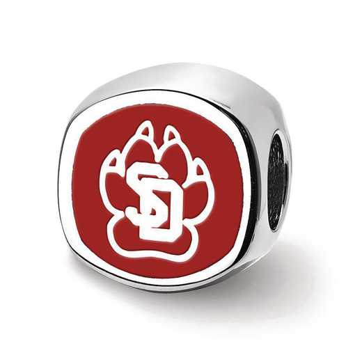 SS501USD: SS U Of South Dakota Sd Paw Print 2-Sided Reflection Beads