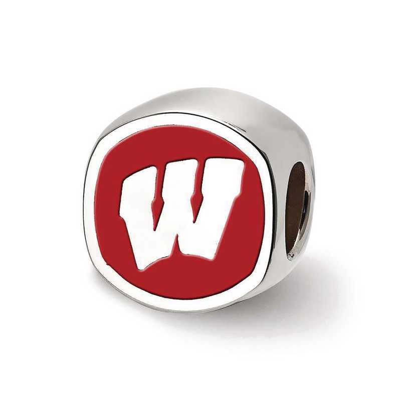 SS501UWI: SS Logoart U Of Wisconsin Cushion Logo Reflection Beads