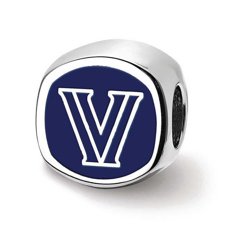 SS501VIL: SS Villanova University 2-Sided Enameled Reflection Beads