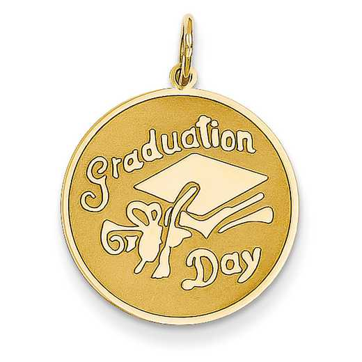 A1076: 14KYG GRADUATION DAY DISC CHARM