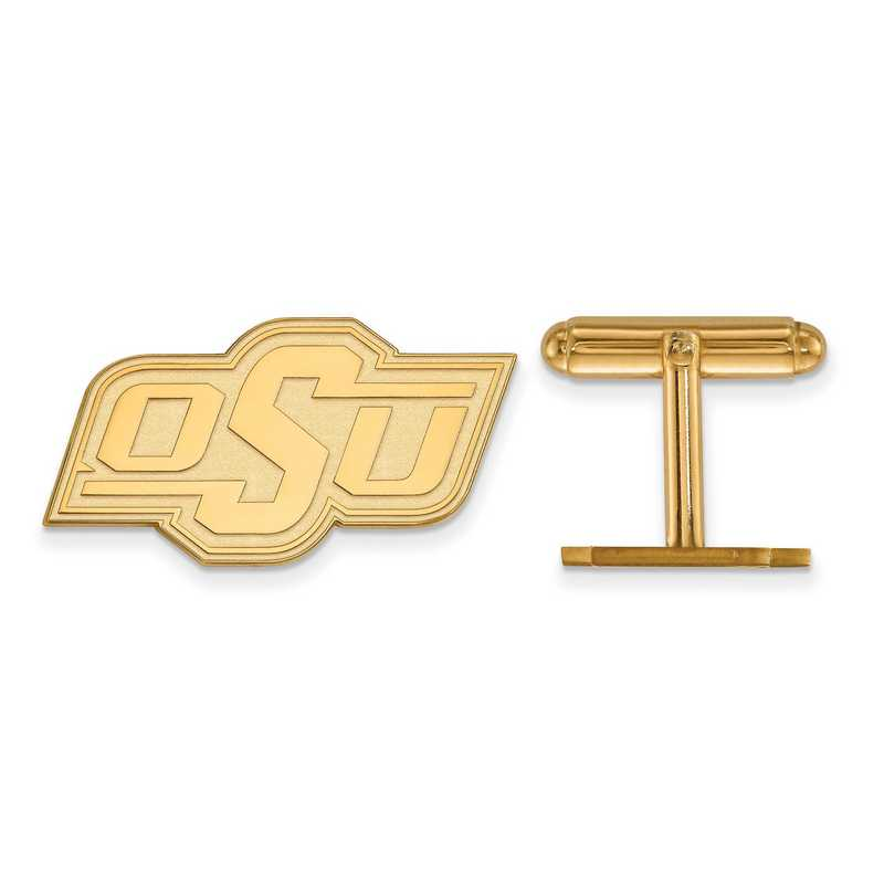 GP011OKS: LogoArt NCAA Cufflinks - Oklahoma State - Yellow