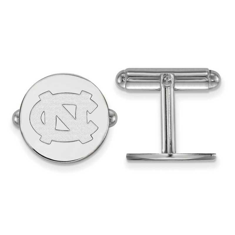 SS011UNC: LogoArt NCAA Cufflinks - UNC - White
