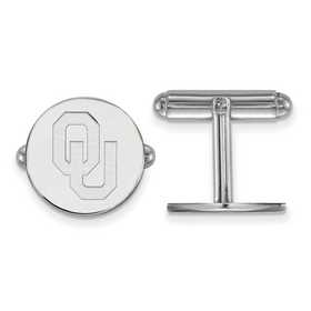 SS011UOK: LogoArt NCAA Cufflinks - Oklahoma - White