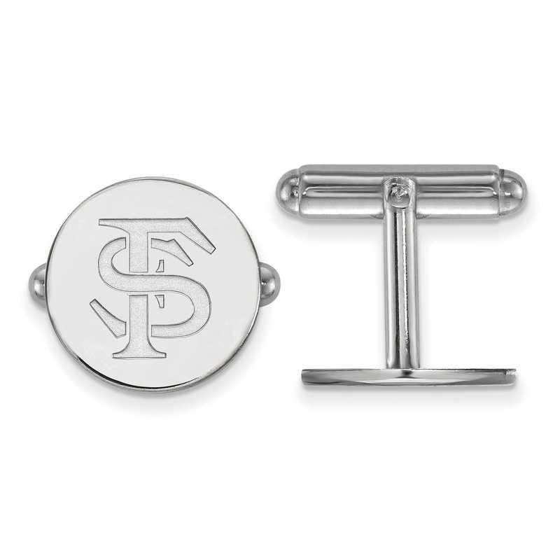 SS012FSU: LogoArt NCAA Cufflinks - Florida State - White