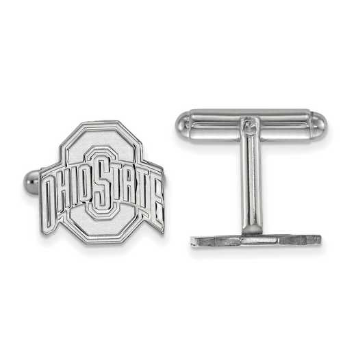 SS012OSU: LogoArt NCAA Cufflinks - Ohio State - White