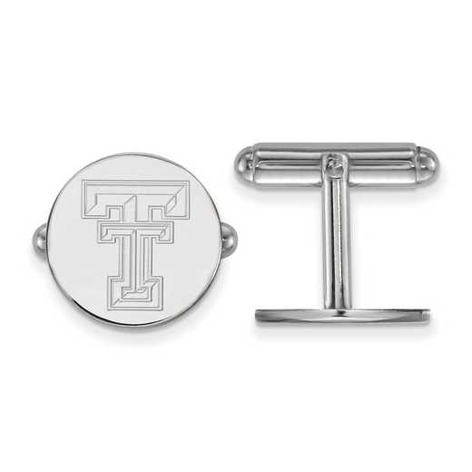 SS012TXT: LogoArt NCAA Cufflinks - Texas Tech - White