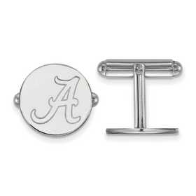 SS012UAL: LogoArt NCAA Cufflinks - Alabama - White