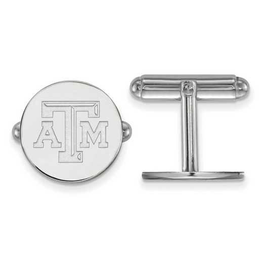 SS076TAM: LogoArt NCAA Cufflinks - Texas A&M - White