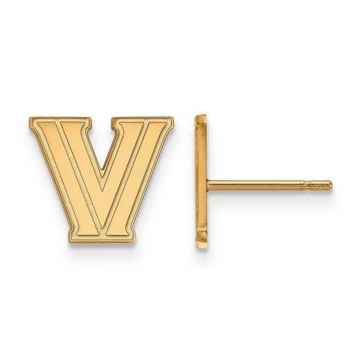 GP006VIL: 925 YGFP LogoArt Villanova University Post Ears