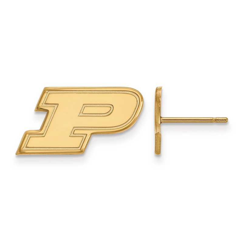 GP008PU: 925 YGFP LogoArt Purdue Post Ears