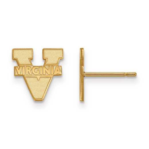 GP008UVA: 925 YGFP LogoArt University of Virginia Post Ears