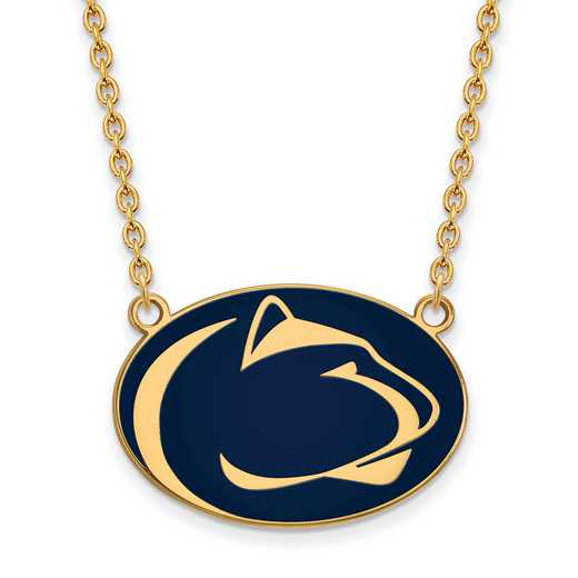 GP019PSU-18: LogoArt NCAA Enamel Pendant - Penn State - Yellow