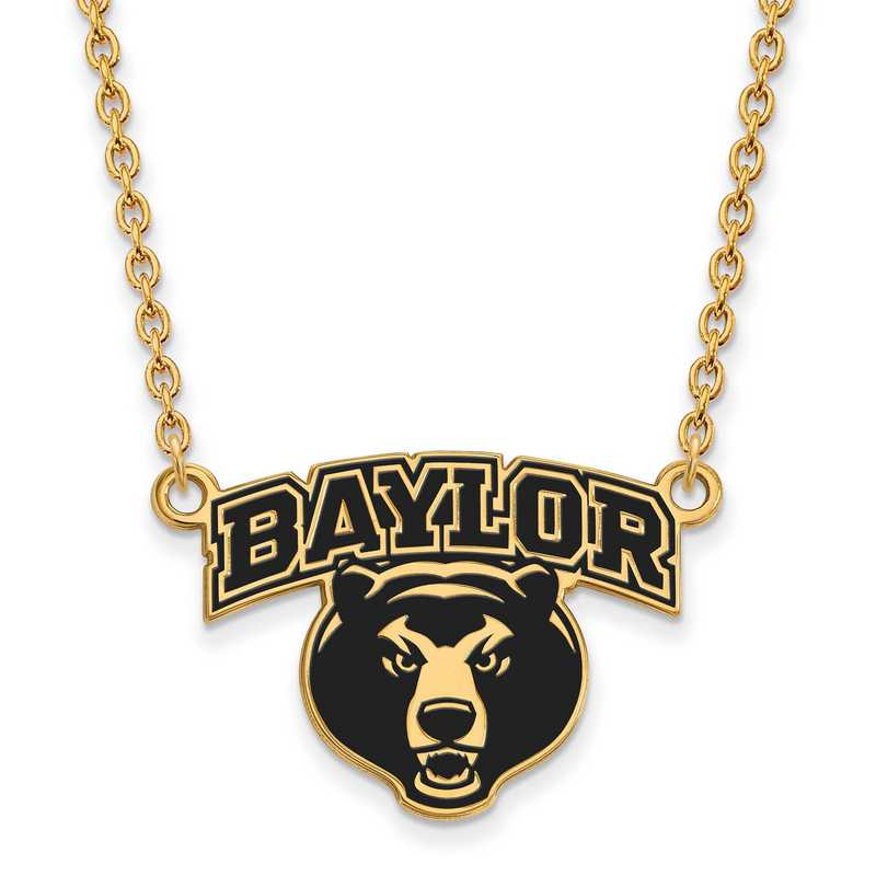 GP051BU-18: LogoArt NCAA Enamel Pendant - Baylor - Yellow