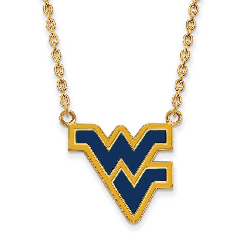 GP071WVU-18: LogoArt NCAA Enamel Pendant - West Virginia - Yellow