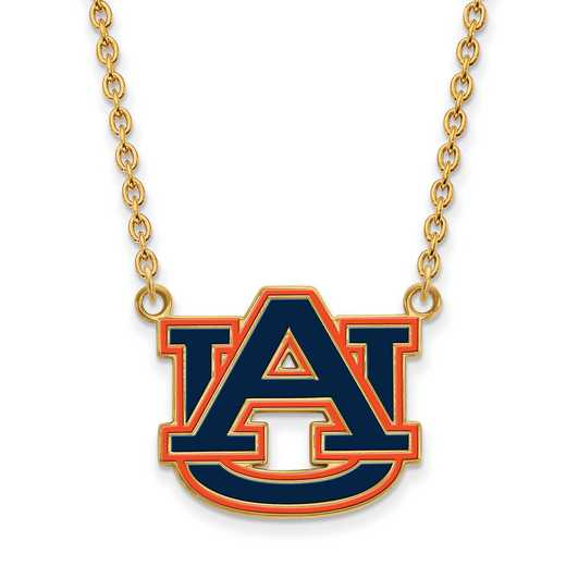 GP078AU-18: LogoArt NCAA Enamel Pendant - Auburn - Yellow