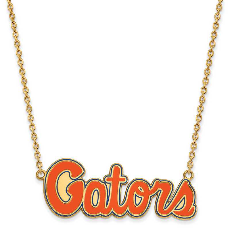 GP081UFL-18: LogoArt NCAA Enamel Pendant - Florida - Yellow