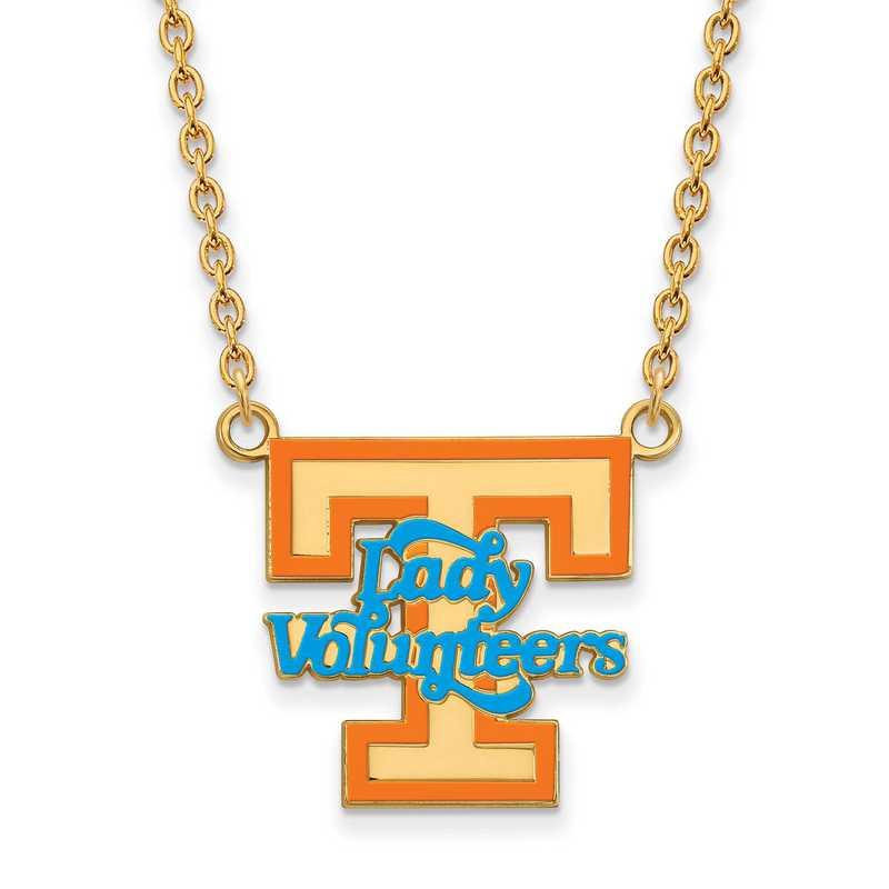 GP081UTN-18: LogoArt NCAA Enamel Pendant - Tennessee - Yellow