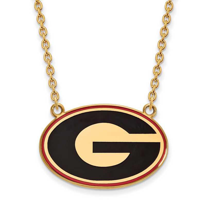 University of Georgia Bulldogs School Letter Logo Pendant Gold Plated Silver