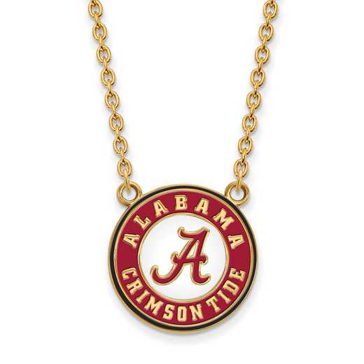GP092UAL-18: LogoArt NCAA Enamel Pendant - Alabama - Yellow