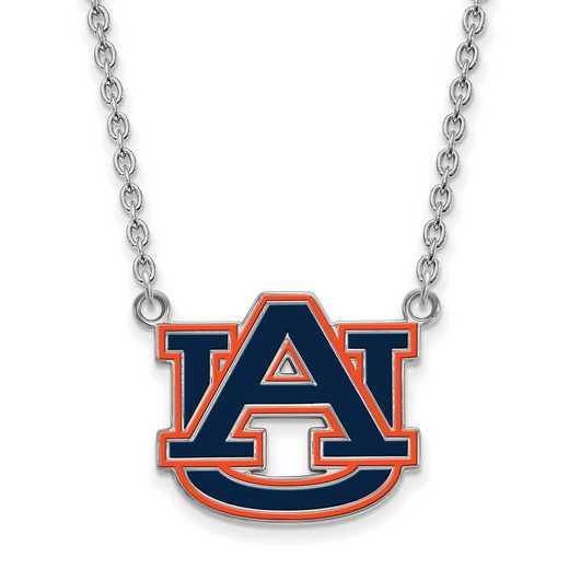 SS078AU-18: LogoArt NCAA Enamel Pendant - Auburn - White
