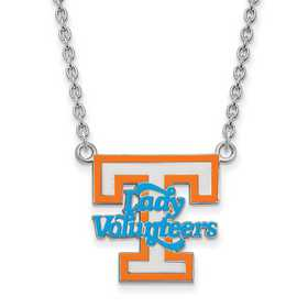 SS081UTN-18: LogoArt NCAA Enamel Pendant - Tennessee - White