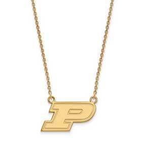 GP014PU-18: 925 YGFPLogoArt Purdue Pendant Necklace