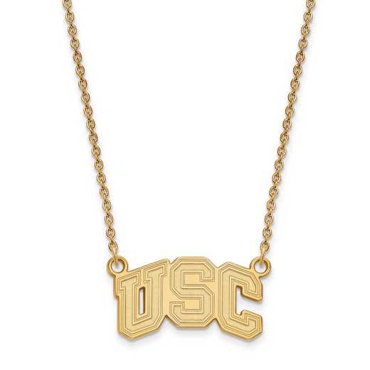 GP031USC-18: 925 YGFP Univ of Southern California Pendant Necklace