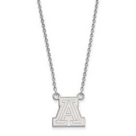 SS011UAZ-18: 925 LogoArt Univ of Arizona Pendant Necklace