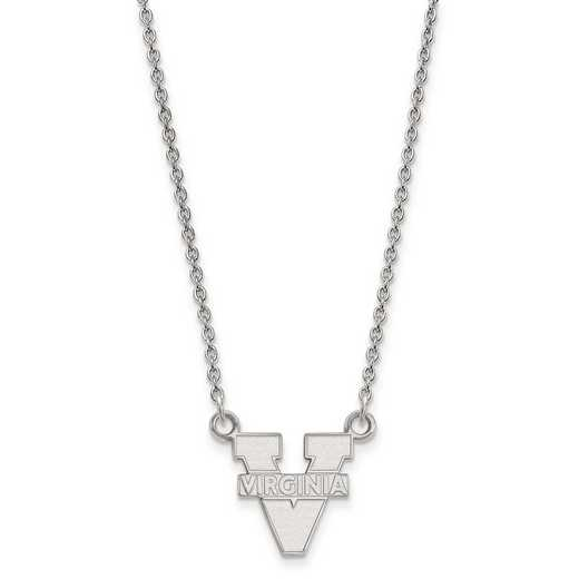 SS015UVA-18: 925 LogoArt Univ of Virginia Pendant Necklace