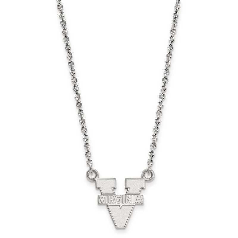 SS015UVA-18: 925 LogoArt Univ of Virginia Pendant Necklace