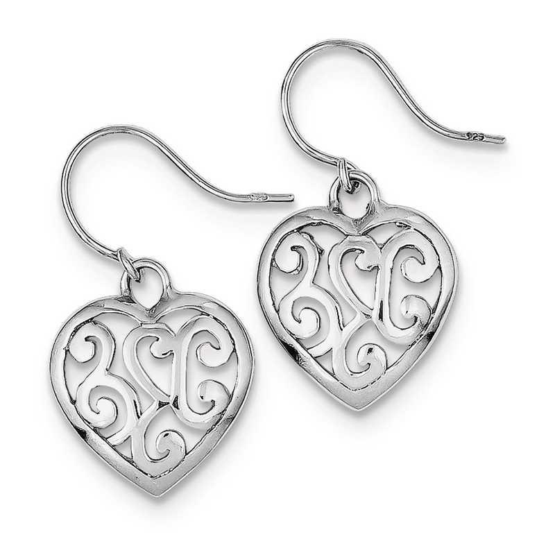 QE8742: 925 Rhodium Plated Shepherd Hook Earrings