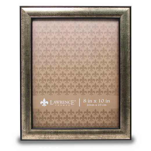 GM14184: 8x10 Domed Burnished Silver and Black Picture Frame