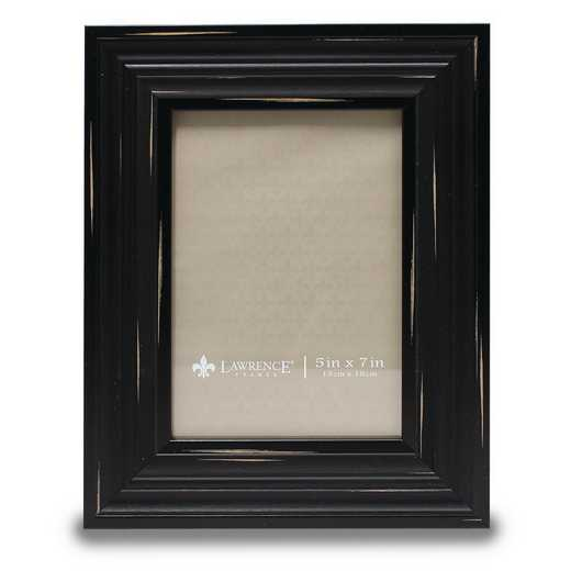 GM14213: 5x7 Weathered Black Richmond Picture Frame