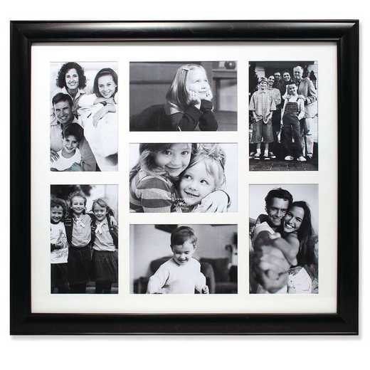 GM14224: Black Collage Frame - Seven Opening 4x6 Gallery Frame