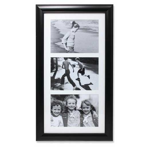 GM14226: Black Collage Frame - Three Opening 5x7 Gallery Frame