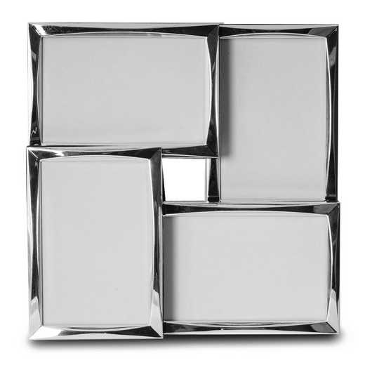 GM18349: Silver-tone Collage Four 4x6 Photo Frame