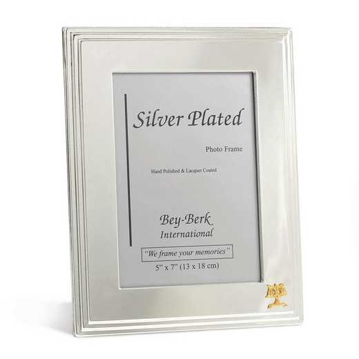 GM21470: Silver-plated 5x7 Frame with Legal Emblem and Easel Back