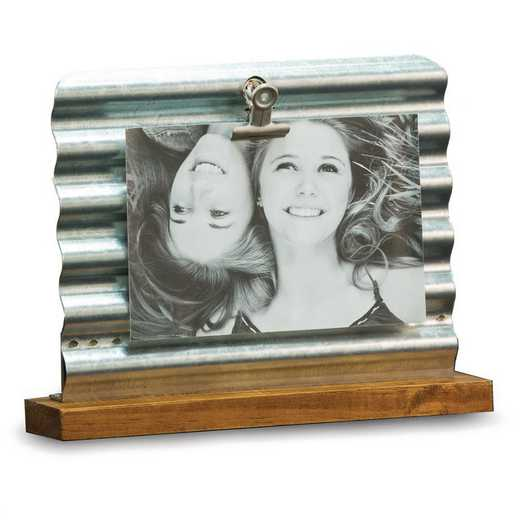 GM21611: Brown Wood and Galvanized Panel 4x6 Frame