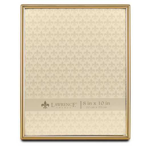 GM22265: 8x10 Simply Gold-tone Metal Frame