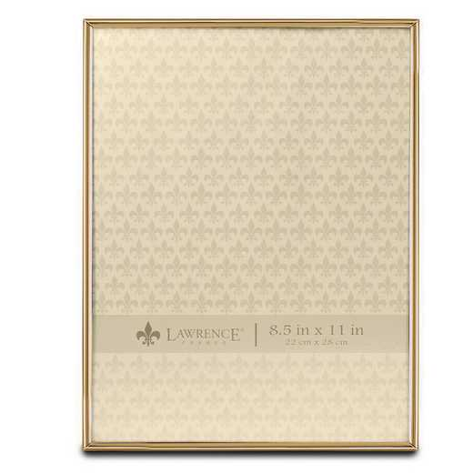 GM22266: 8.5x11 Simply Gold-tone Metal Frame