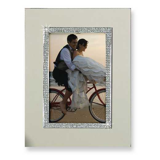 GM4225: Nickel-plated Glitter 8x10 Photo Frame