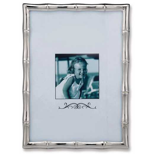GM9906: Silver-tone Bamboo 8x10 Frame Matted for 5x7 Photo