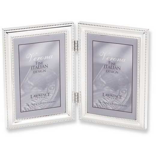 GP5951: Silver-plated Beaded Double 5x7 Photo Frame