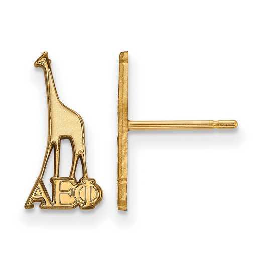 GP038AEP: Strlng Slvr with Gold Plating LogoArt Alpha Epsilon Phi XS Post Erring